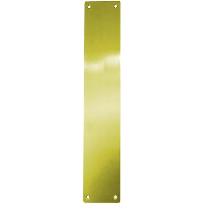 Frelan Hardware JV8PB Polished Brass Plain Fingerplate
