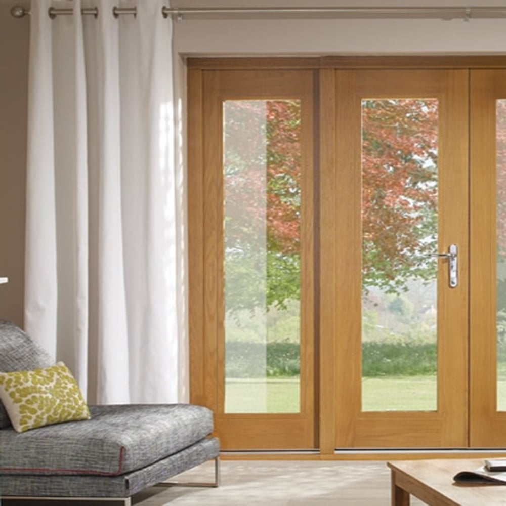 b56ee83bd49b XL Joinery La Porte Pre-finished Oak Sidelight at Leader Doors