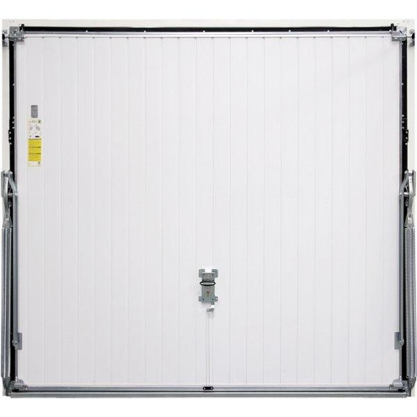 Wide vertical panelled thermo insulated garage door golden for 14 wide garage door
