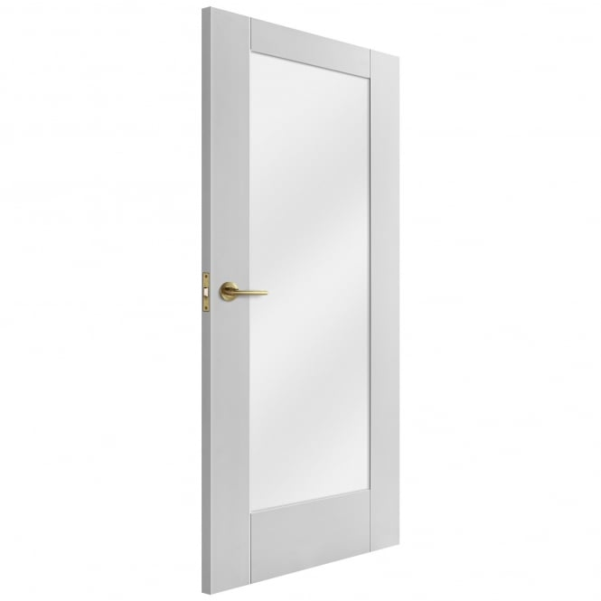 Liberty Doors Internal White Primed Pattern 10 Door with Obscure Glass