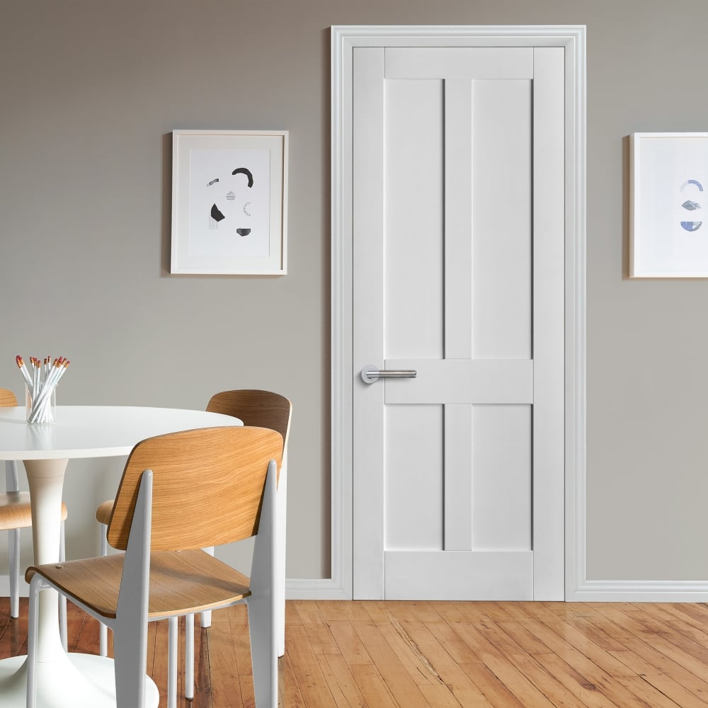 Internal White Primed Victorian Shaker FD30 Fire Door & Liberty Internal White Primed Victorian Shaker Door | Leader Doors