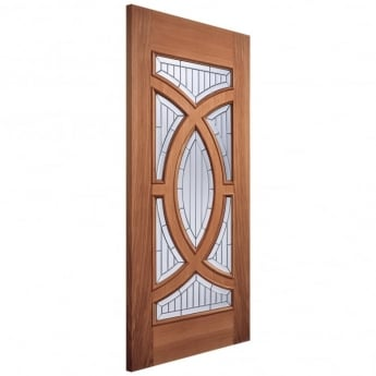 LPD Doors Adoorable Majestic Unfinished External Hardwood Door with Zinc Clear Bevelled Double Glass