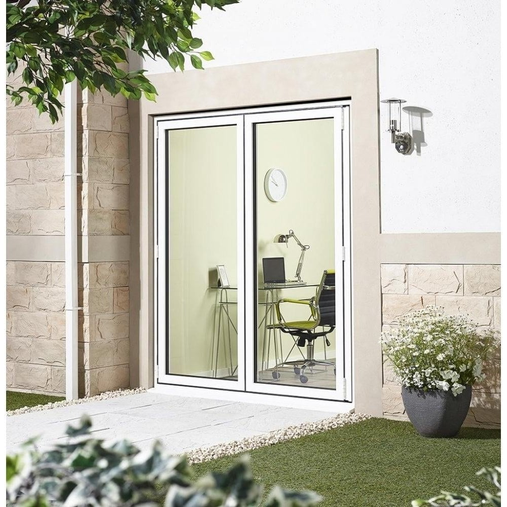 white aluminium aluvu clear glass door at leader doors. Black Bedroom Furniture Sets. Home Design Ideas