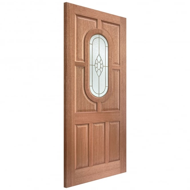 External Adoorable Hardwood Acacia Cluster Door with Brass Double Glazing