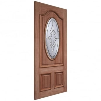 LPD Doors External Adoorable Hardwood Cheltenham Door with Brass Double Glazing