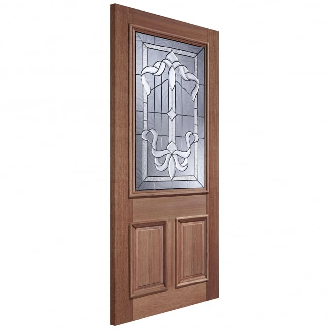 LPD External Adoorable Hardwood Cleveland Zinc Double Glazed Door