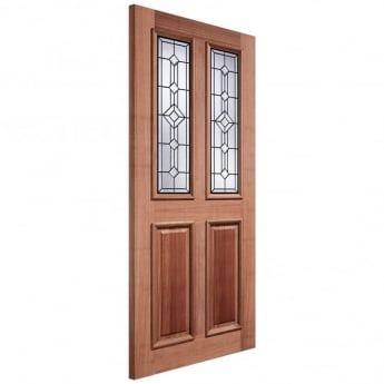 LPD Doors External Adoorable Hardwood Derby Leaded Double Glazed Door