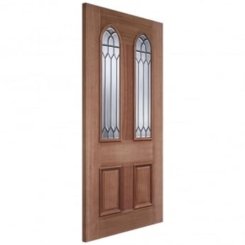 LPD Doors External Adoorable Hardwood Gothic Leaded Double Glazed Door
