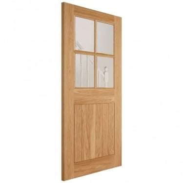 External Adoorable Oak Cottage 4L Door with Clear Double Glazing