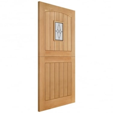 External Adoorable Oak Cottage Stable 1L Door with Lead Double Glazing