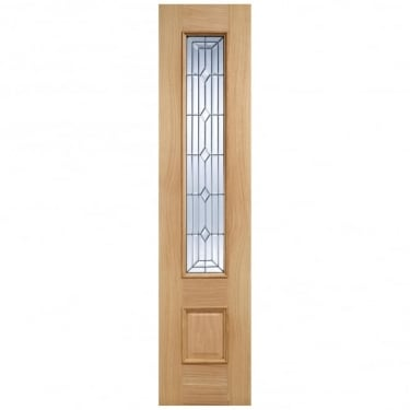 External Adoorable Oak Empress Zinc Double Glazed Sidelight