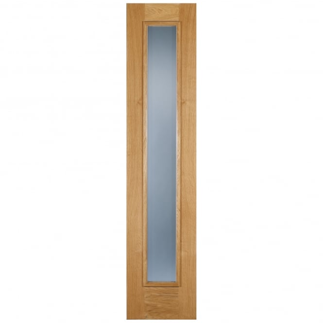 LPD Doors External Adoorable Oak Frosted Double Glazed Sidelight