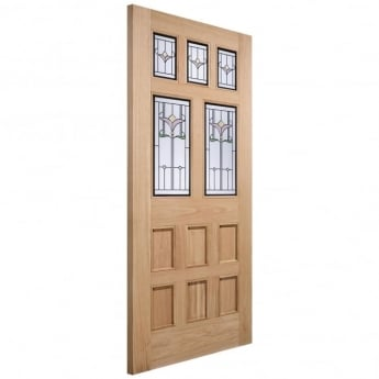 LPD Doors External Adoorable Oak Knightsbridge Door with Tulip Bevelled Double Glazing
