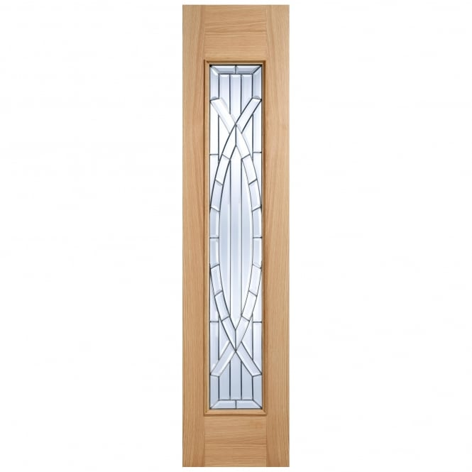 LPD External Adoorable Oak Majestic Zinc Double Glazed Sidelight