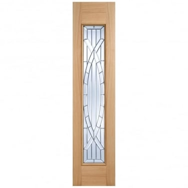 External Adoorable Oak Majestic Zinc Double Glazed Sidelight