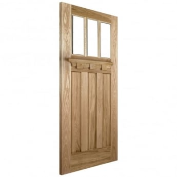 LPD Doors External Adoorable Oak Tuscany Unglazed Door