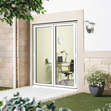 External Alu Sliding Door Set White