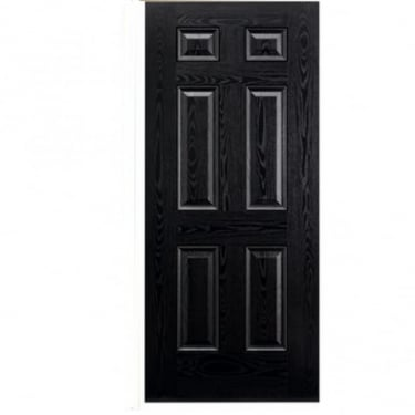 External Black GRP Colonial 6P Door