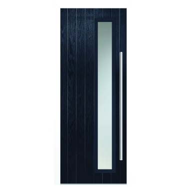 External Blue Composite Shardlow Door with White Frame