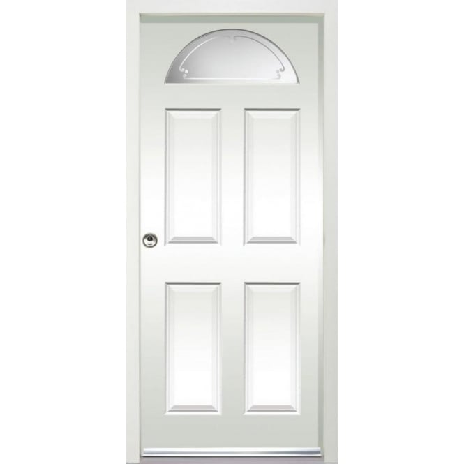LPD Doors External Carolina White Pre-finished Frosted Glass Enduradoor