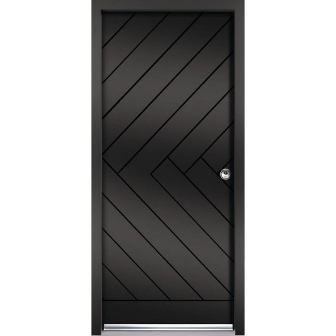 External Chevron Black Fully Finished Enduradoor