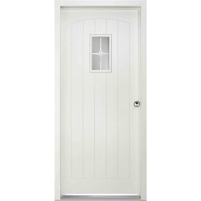 LPD Doors External Cottage White Pre-finished Frosted Glass Enduradoor