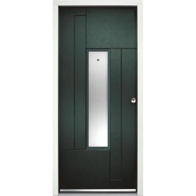 External Fernando Green Fully Finished Frosted Glass Enduradoor