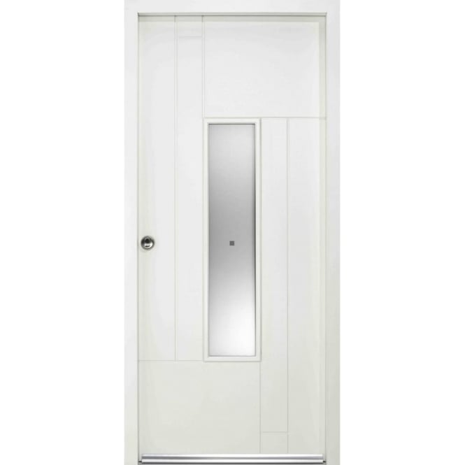 LPD Doors External Fernando White Pre-finished Frosted Glass Enduradoor