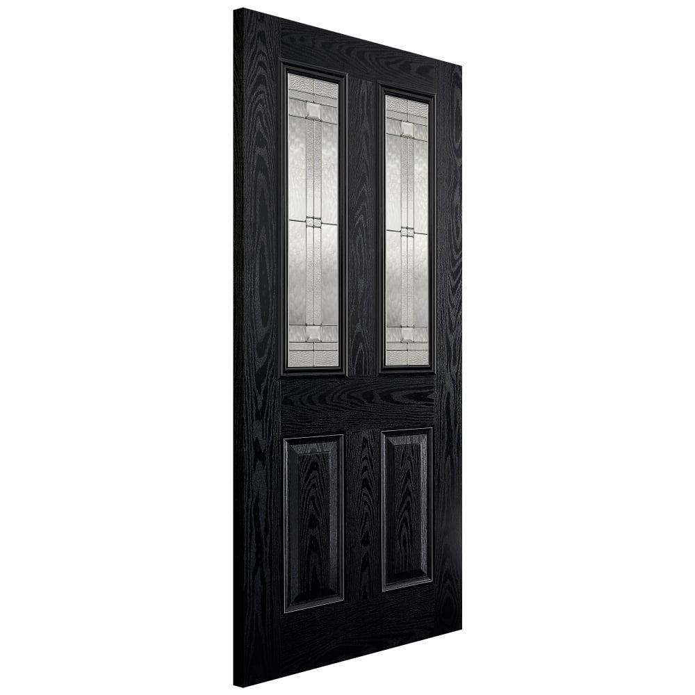 lpd external grp black white malton door with double glazed leaded