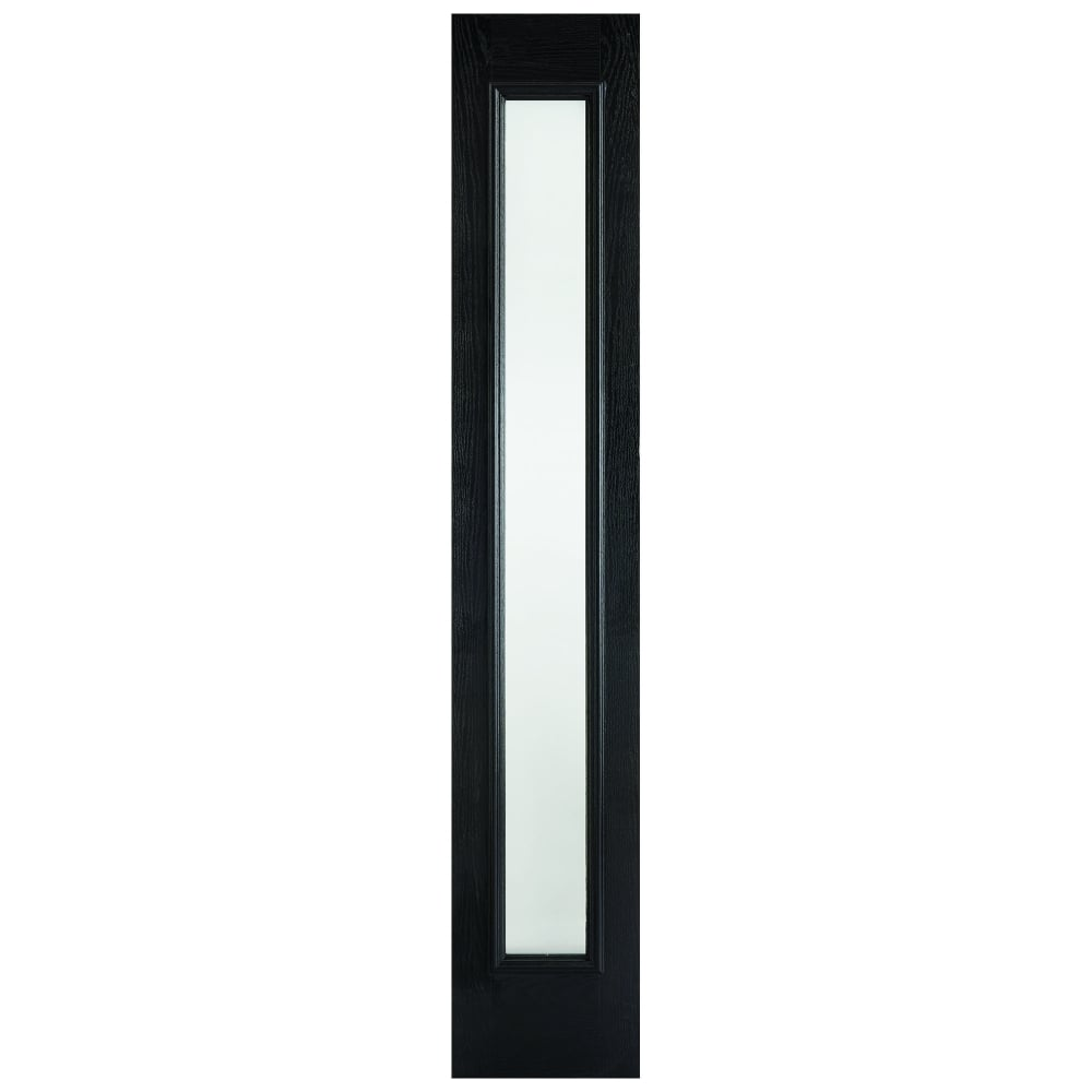 External GRP Black Universal Sidelight with Frosted Glass  sc 1 st  Leader Doors & LPD External GRP Black u0026 White Universal Sidelight with Frosted ...