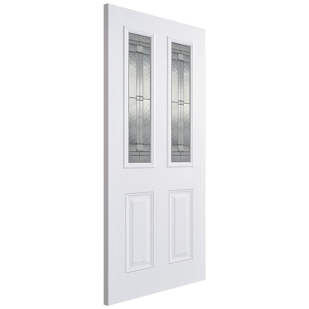 External GRP White Malton Door with Double Glazed Leaded Glass  sc 1 st  Leader Doors & LPD External GRP White Malton Door with Double Glazed Leaded Glass ...