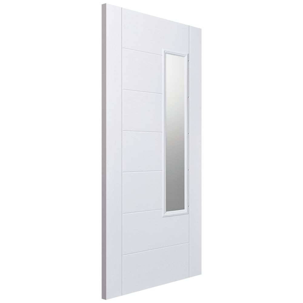 Lpd External Grp White Newbury Door With Double Glazed Frosted Glass