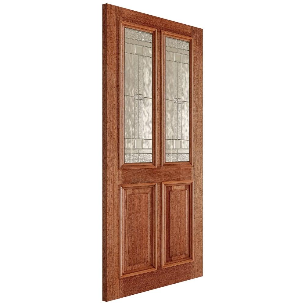External Hardwood Unfinished Derby 2L Door with Double Glazed Elegant Zinc Glass and Raised Mouldings (  sc 1 st  Leader Doors & LPD Doors External Hardwood Unfinished Derby Glazed Door | Leader Doors