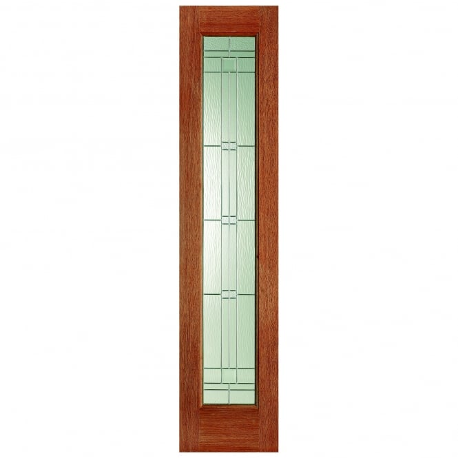 LPD Doors External Hardwood Universal Sidelight with Elegant Zinc Glass