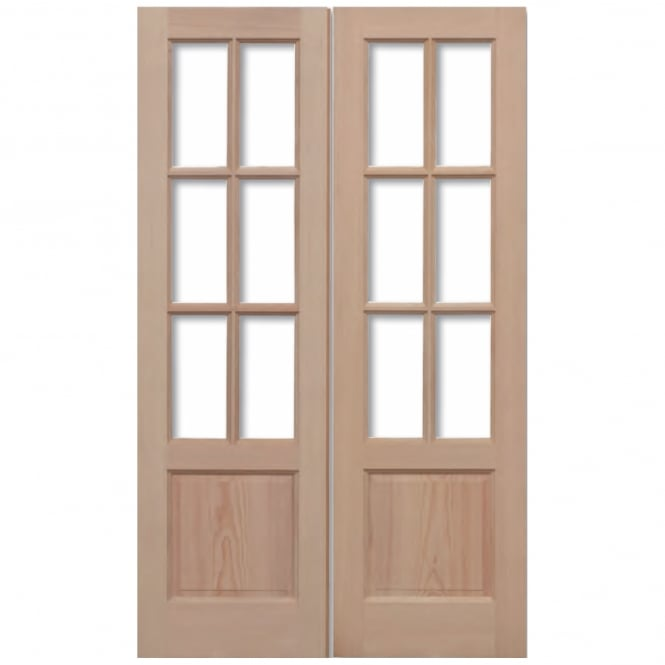 LPD External Hemlock GTP 2P Unglazed Pair Door