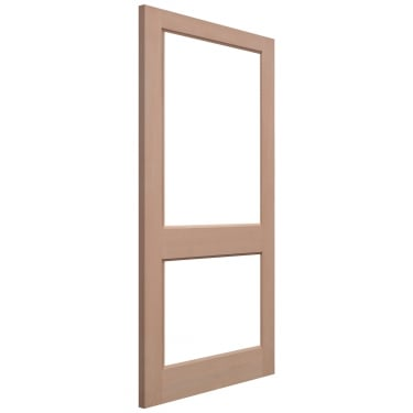 External Hemlock Unfinished 2XGG 2L Unglazed Door
