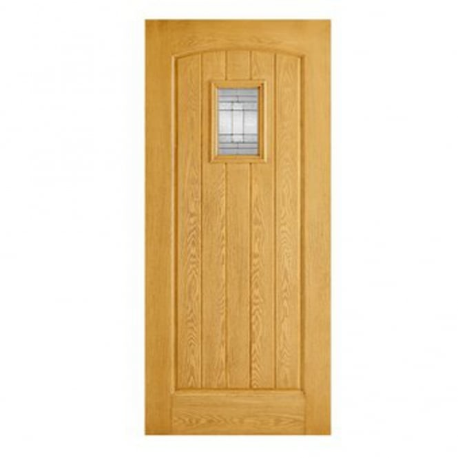 LPD External Oak GRP Cottage Door With Double Leaded Glass