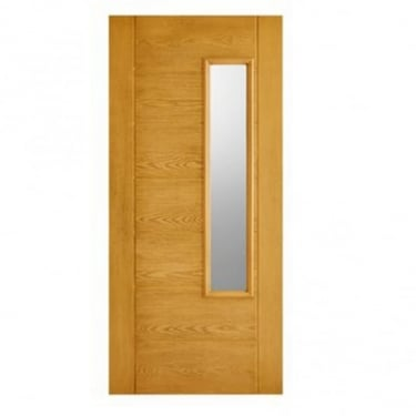 External Oak GRP Newbury Door With Double Frosted Glass