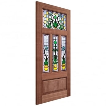 LPD Doors External Unfinished Hardwood Double Glazed Kensington Door
