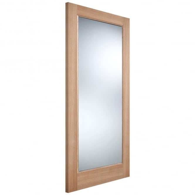 LPD Doors External Unfinished Oak Pattern 10 Warmer Door With Clear Double Glazing
