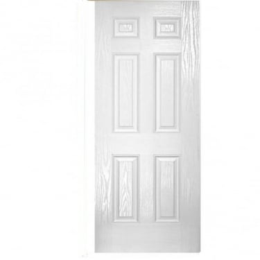 External White GRP Colonial 6P Door