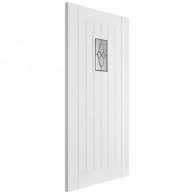 LPD Doors External White Primed Cottage Door With Lead Double Glazing