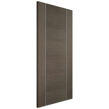 Internal Chocolate Grey Fully Finished Alcaraz FD30 Fire Door (CHGALCFC)