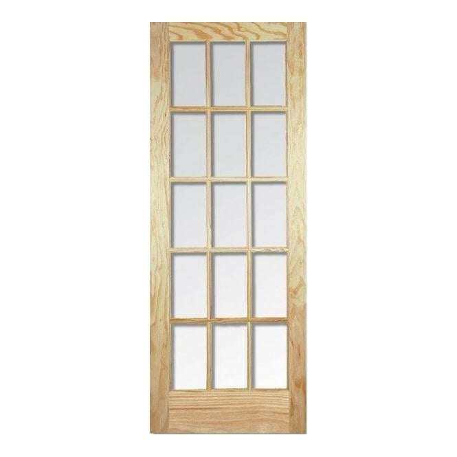 LPD Doors Internal Elliotis Clear Pine SA Door with Clear Bevelled Glass