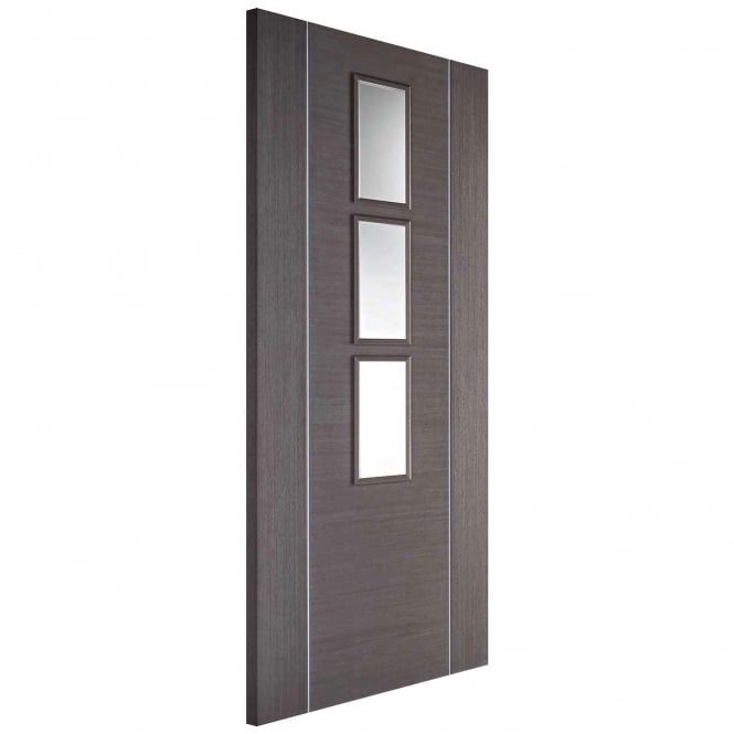 LPD Internal Fully Finished Chocolate Grey Glazed Alcaraz Door
