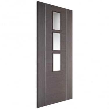 Internal Fully Finished Chocolate Grey Glazed Alcaraz Door
