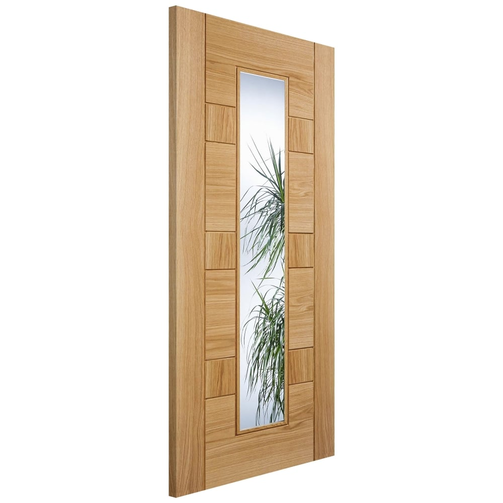 Lpd Edmonton Oak Fully Finished Clear Glass Internal Door