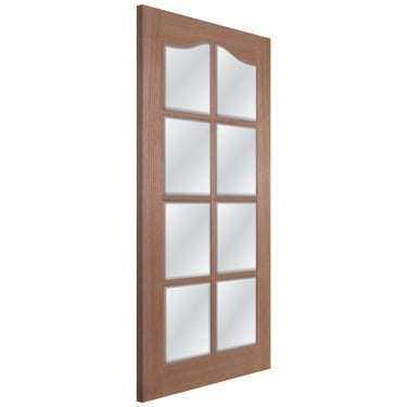 Internal Hardwood Unfinished Hamlet 8L Door with Clear Bevelled Glass