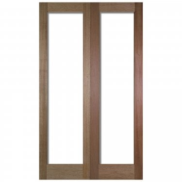 Internal Hardwood Unfinished Pattern 20 2L Unglazed Pair Door (PRS20)