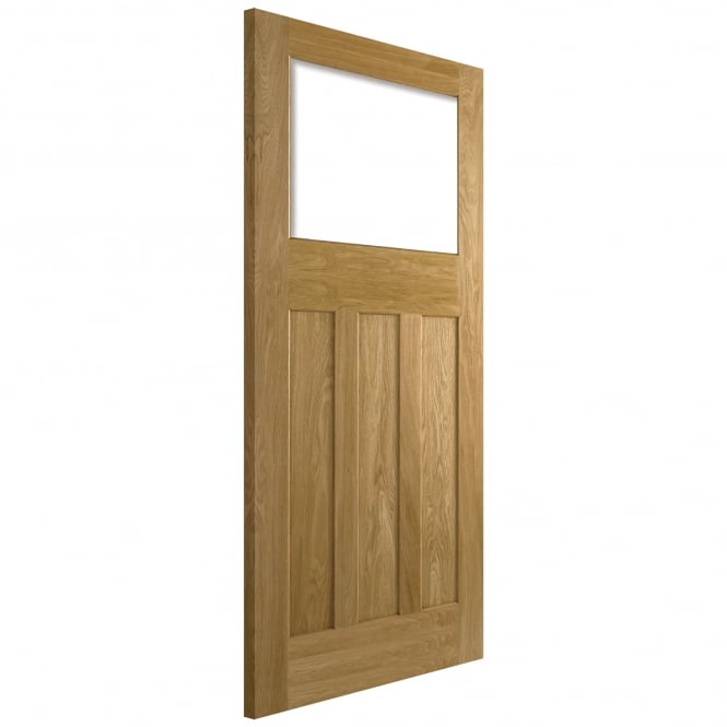 Internal Nostalgia Oak DX 30s Style Unglazed Door